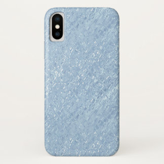 Coque iPhone X Caisse bleue vitreuse de téléphone portable