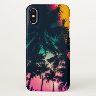 Coque iPhone X Caisse colorée de l'iPhone X de silhouette de