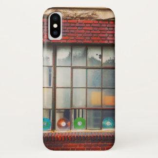 Coque iPhone X Caisse de disques de fenêtre