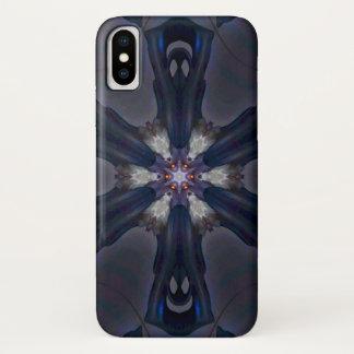 Coque iPhone X Caisse de mandala d'étoile de démon de Cambions