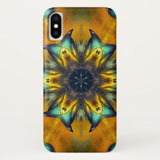 Coque iPhone X Caisse de mandala d'étoile de démon de Caym
