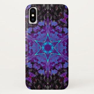 Coque iPhone X Caisse de mandala d'étoile de démon de Cimeries