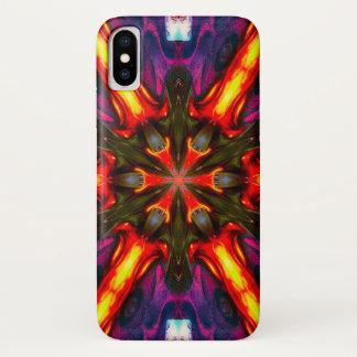 Coque iPhone X Caisse de mandala d'étoile de démon de Clauneck