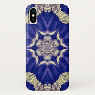 Coque iPhone X Caisse de mandala d'étoile de démon de Clisthert