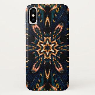 Coque iPhone X Caisse de mandala d'étoile de démon de Cresil