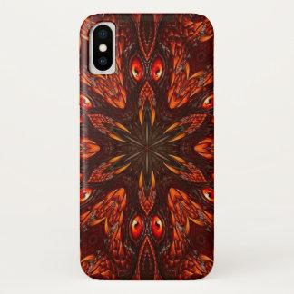 Coque iPhone X Caisse de mandala d'étoile de démon de Demoriel