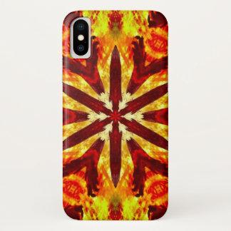 Coque iPhone X Caisse de mandala d'étoile de démon de Feurety