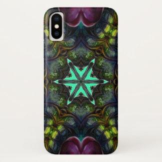 Coque iPhone X Caisse de mandala d'étoile de démon de Guecubu