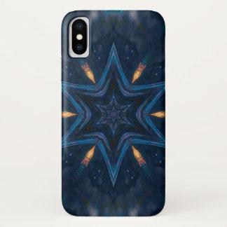 Coque iPhone X Caisse de mandala d'étoile de démon de Hecate