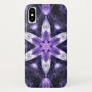 Coque iPhone X Caisse de mandala d'étoile de démon de Jezebeth