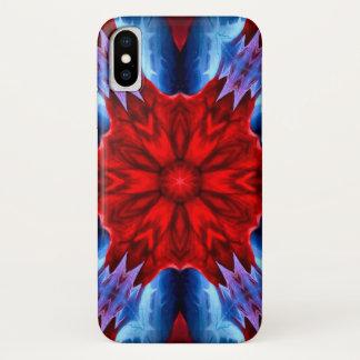 Coque iPhone X Caisse de mandala d'étoile de démon de Lucifer