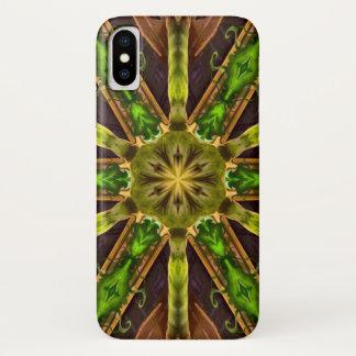 Coque iPhone X Caisse de mandala d'étoile de démon de Mandragoras