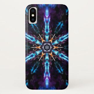 Coque iPhone X Caisse de mandala d'étoile de démon de manie