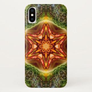 Coque iPhone X Caisse de mandala d'étoile de démon de Mantus