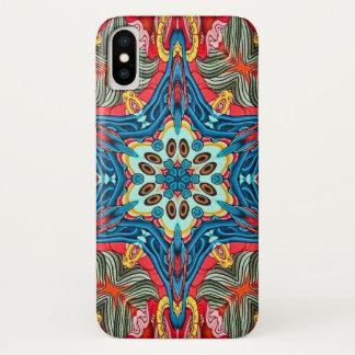 Coque iPhone X Caisse de mandala d'étoile de démon de Mara