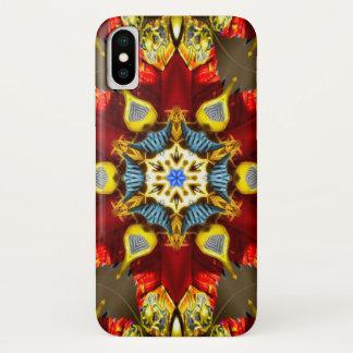 Coque iPhone X Caisse de mandala d'étoile de démon de Melchom