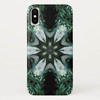 Coque iPhone X Caisse de mandala d'étoile de démon de Merihim