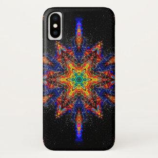 Coque iPhone X Caisse de mandala d'étoile de démon de nuit de