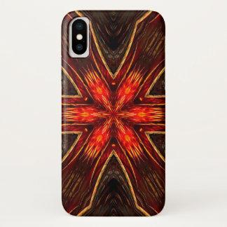 Coque iPhone X Caisse de mandala d'étoile de démon de Xaphan