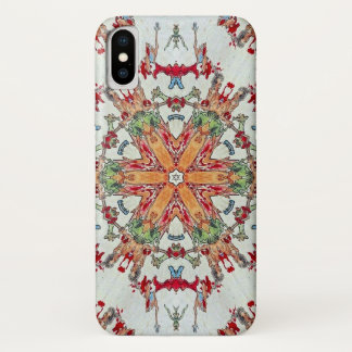 Coque iPhone X Caisse de mandala d'étoile de démon d'Emma-o
