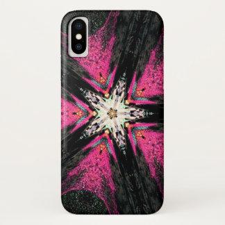Coque iPhone X Caisse d'éclaboussure de mandala d'étoile de démon