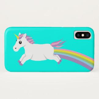 Coque iPhone X Caisse en pastel de téléphone de licorne