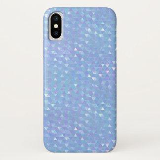Coque iPhone X Caisse géométrique bleue de téléphone portable