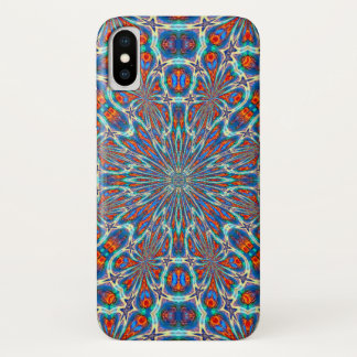 Coque iPhone X Caisse magique enchantée de mandala d'aquarelle de