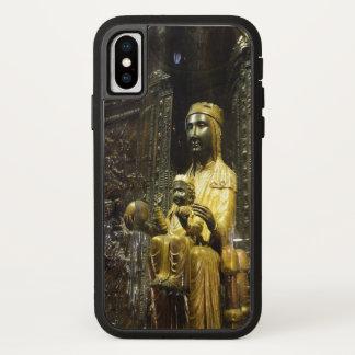 Coque iPhone X caisse noire de Montserrat de madonna