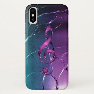Coque iPhone X Caisse rose et bleue iridescente de l'iPhone X de
