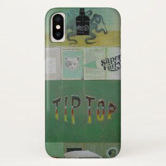 Coque iPhone X Caisse velue superbe de cellules de Kitty