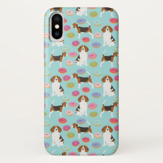 Coque iPhone X Caisses de beignet de beagle