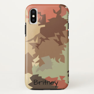 Coque iPhone X Camouflage urbain