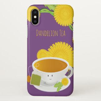 Coque iPhone X Caractère de tasse de thé de pissenlit |