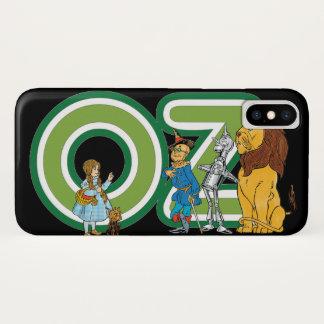 Coque iPhone X Caractères vintages de magicien d'Oz et lettres