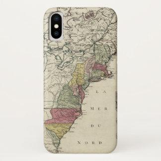 Coque iPhone X Carte coloniale de l'Amérique par Matthaus Lotter