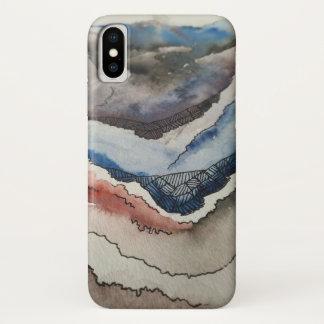 Coque iPhone X Cas abstrait de téléphone de conception