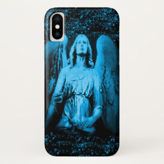 Coque iPhone X Cas astral de parties scintillantes d'ailes d'ange