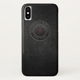 Coque iPhone X Cas banni de téléphone de jante externe