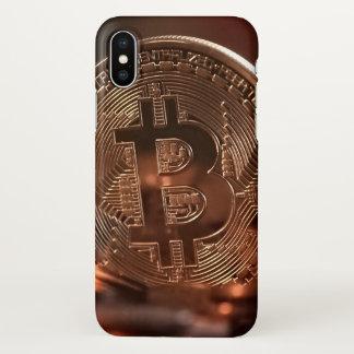 Coque iPhone X Cas brillant de l'iPhone X de Bitcoin