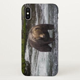Coque iPhone X Cas brillant de téléphone de l'ours 68