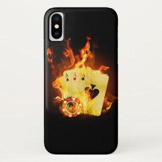 Coque iPhone X Cas brûlant de l'iPhone X de tisonnier