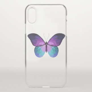 Coque iPhone X Cas clair de l'iPhone X de papillon