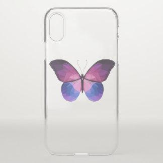Coque iPhone X Cas clair de l'iPhone X de papillon