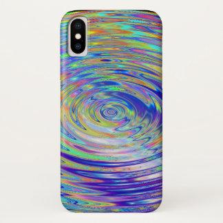 Coque iPhone X cas conscient de téléphone de conception de