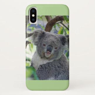 Coque iPhone X Cas courageux de l'iPhone X de koala de bébé