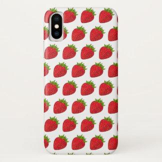 Coque iPhone X Cas de club de fraise