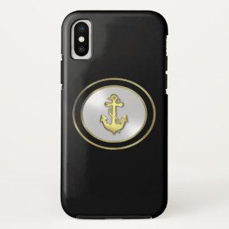 Coque iPhone X Cas de l'iPhone X d'ancre de bateau