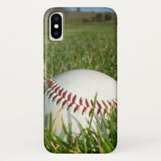 Coque iPhone X Cas de l'iPhone X de base-ball