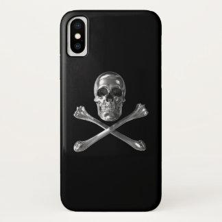Coque iPhone X Cas de l'iPhone X de crâne de jolly roger